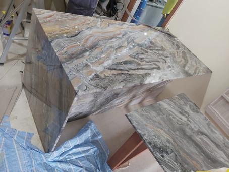 Marble Island Top - Grigio Orobico Marble