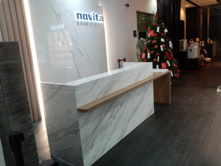 Reception Table Top - Volakas Marble
