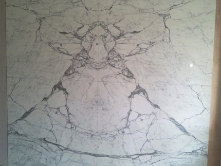 Marble Feature Wall - Statuario Marble