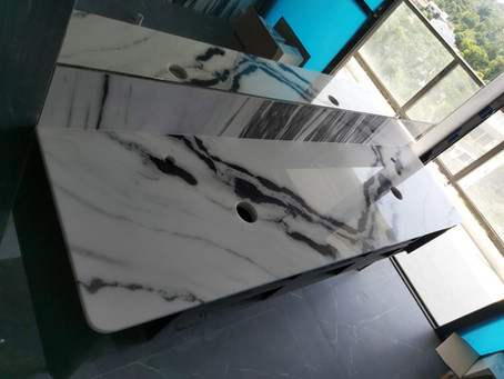 Marble Counter Top - Panda White Marble
