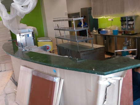 Green Marble - Reception Counter Top