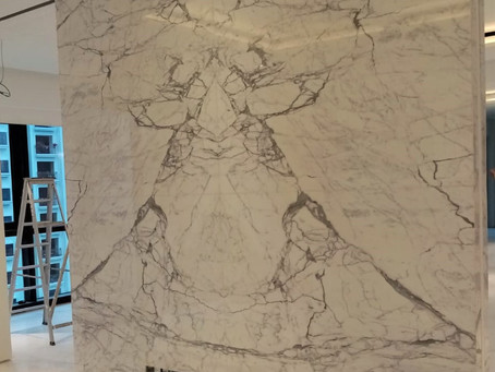 Statuario Marble Feature Wall
