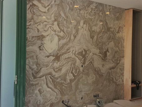 Andes Wave Marble - Feature Wall