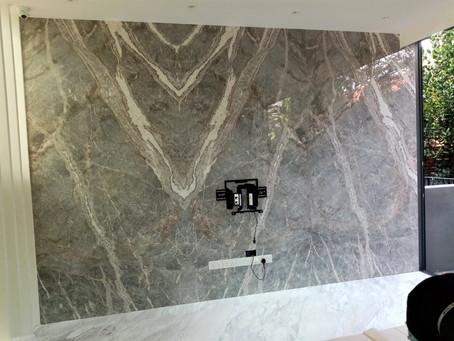 Fior De Pesco Marble Feature Wall
