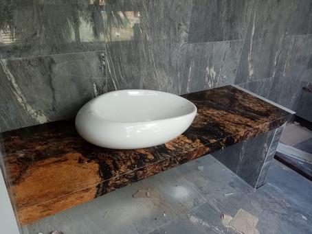 Vanity Top - Marsh Gold Granite