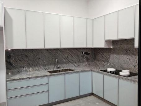 Granite Kitchen Top - Bianco Vis Polish Finished Granite