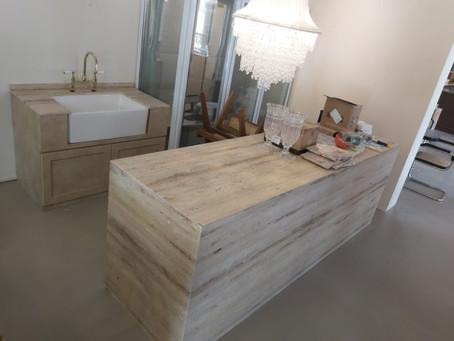 Natural Stone Counter Tops - Silver Travertine