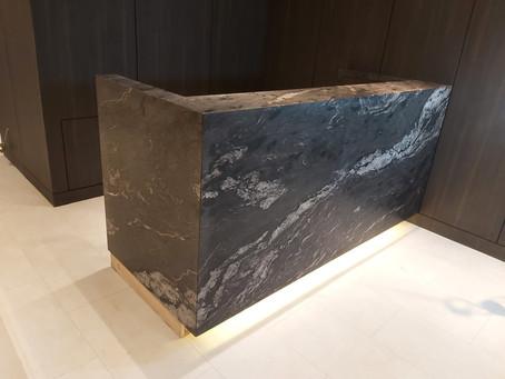Granite Reception Counter Top - Cosmo Black Granite