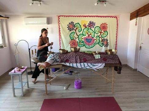 Massage sonore aux bols thibétains
