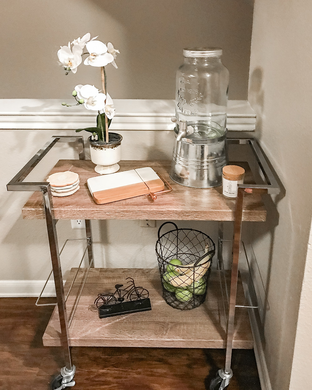 Amazon Bar Cart in Fort Worth Apartment