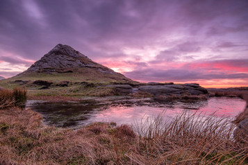 'Hen Mountain Sunset' by Mark McConnell ( 11 marks )