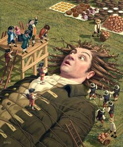 Gulliver in Liliput