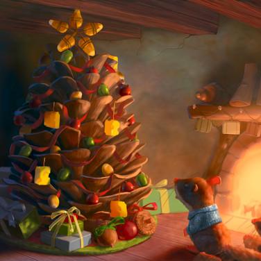 Mouse Christmas tree