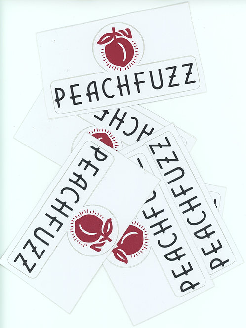 PEACH FUZZ BUMPER STICKER