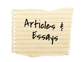 scrap paper with the words Articles & Essays