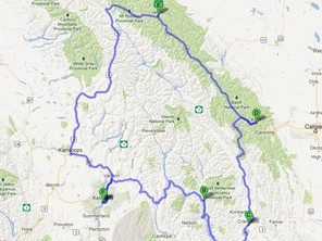 Route ID: BC06 Hot Springs / Rocky Mountains / Banff / Jasper / Kamloops