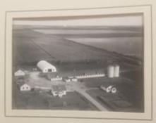 Aerial view of John's parent's farm in Manitoba.
