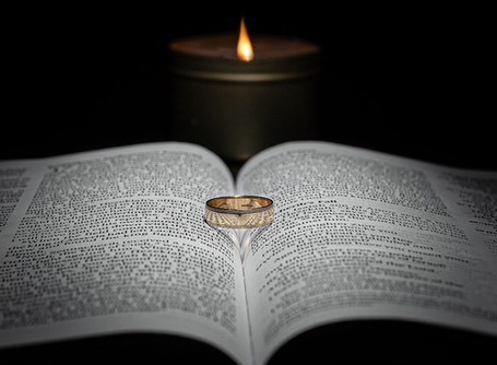 Wedding Rings in a Bible