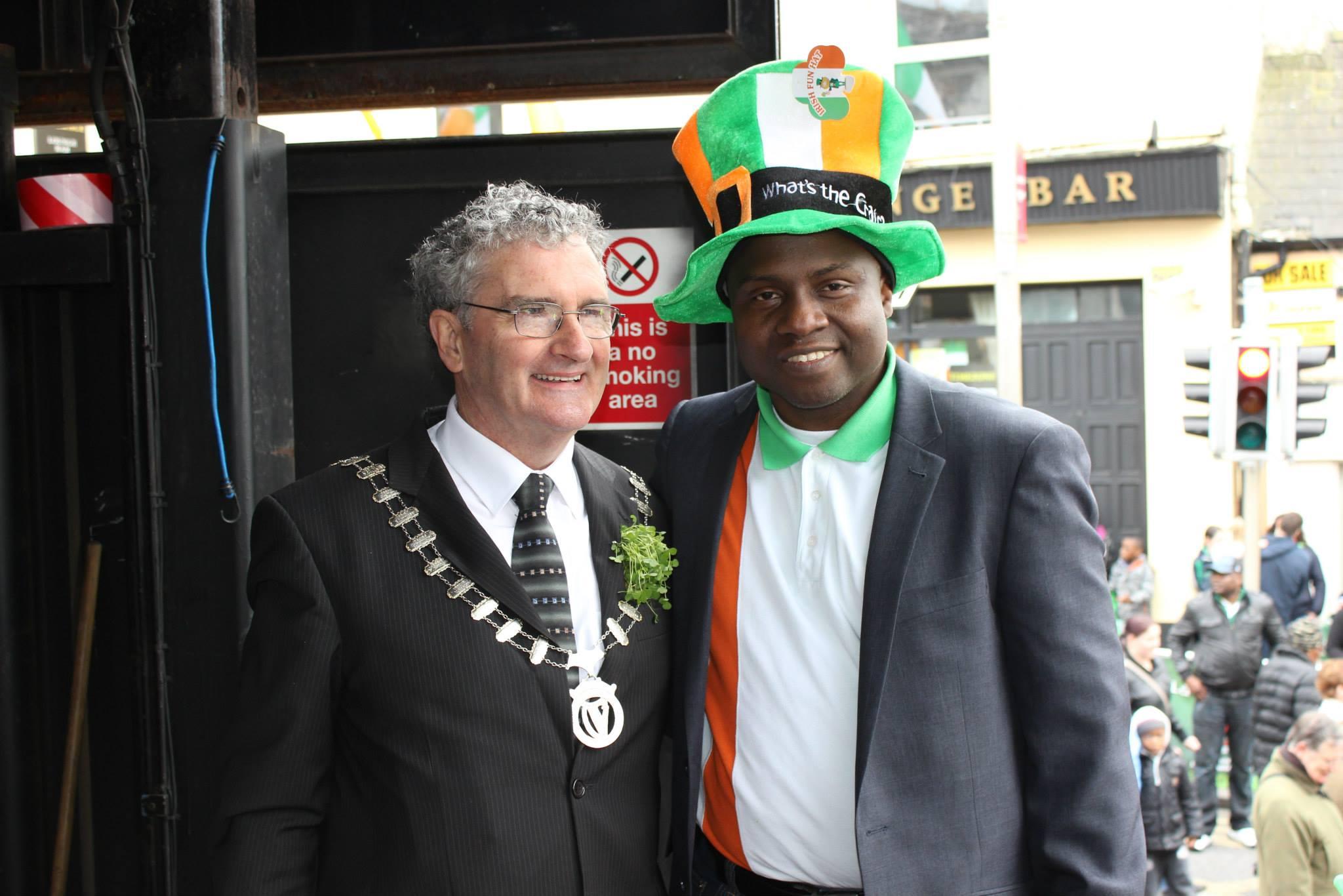 With the Mayor of Balbriggan