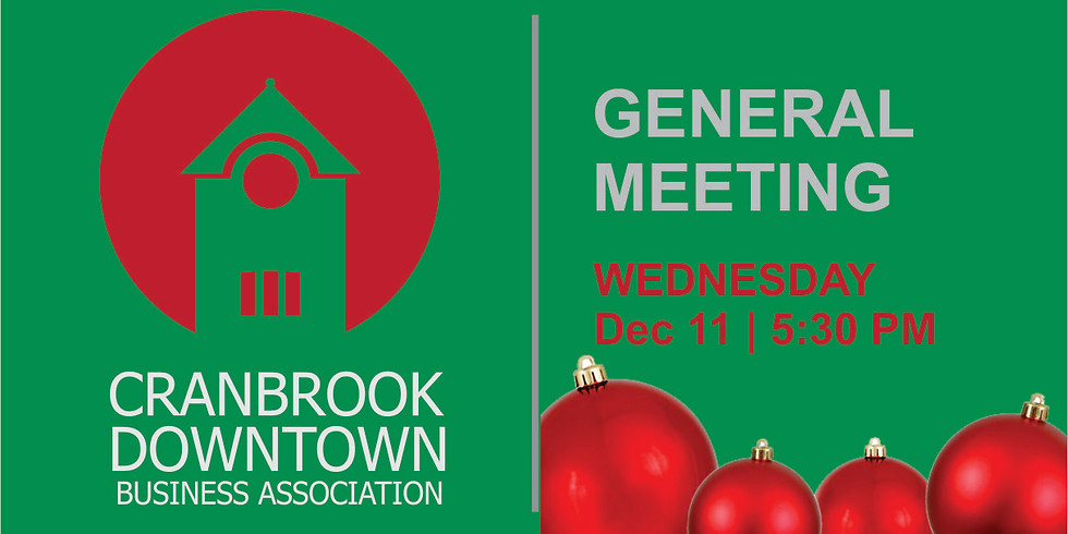 DBA General Meeting - Christmas Social