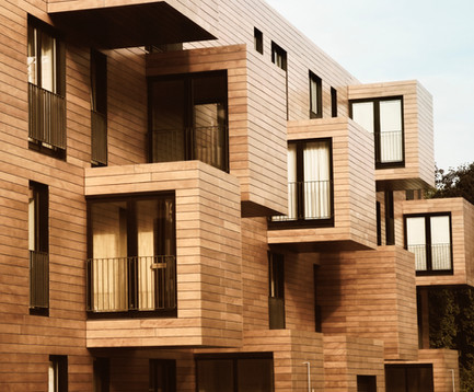 Modern Contemporary Wood Sided Building.