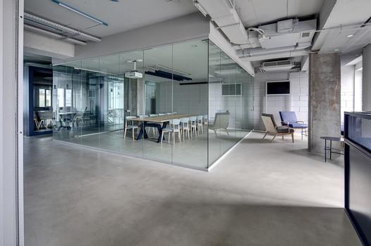 Meeting zone in the office in a loft sty