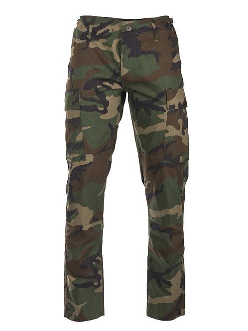 Pantaloni ′SLIM FIT′ US WOODLAND R/S BDU FIELD