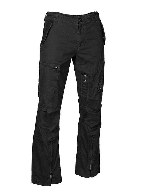 Pantaloni PILOT BLACK COTTON ′STRAIGHT CUT′