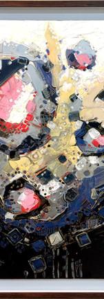 Aesthetic solutions, Inks & Acrylic colour on canvas,  120X89 CM, 2017