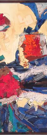 The earth talk (2), Inks & Acrylic colour on canvas, 139X109 CM, 2016