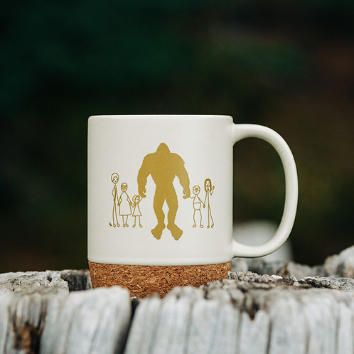 Bigfoot Wellness 13oz Cork Bottom Mug
