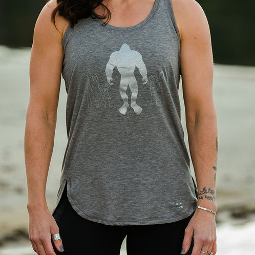 Women's Bigfoot Wellness Tank Top Petrol Gray Heather