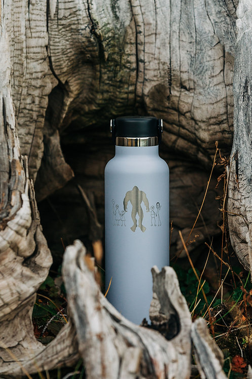 Bigfoot Wellness White HydroFlask 21 oz Water Bottle