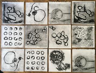 Collagraph Tiles