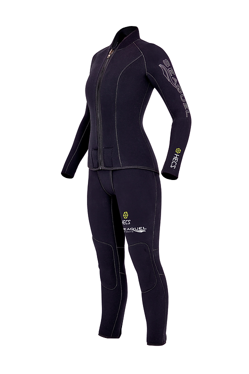 Womens-Dive-Wetsuit-HECS-Aquatic-Stealthscreen-Two-Piece-5mm-7mm-Yamamoto-45-Custom