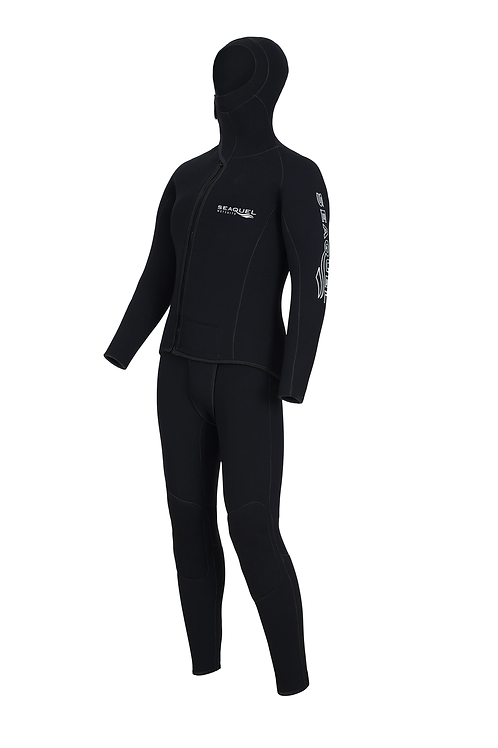Custom-Dive-Wetsuit-5mm-7mm-Yamamoto-45-Two-Piece-Jacket-Long-John-Front-New-Zealand