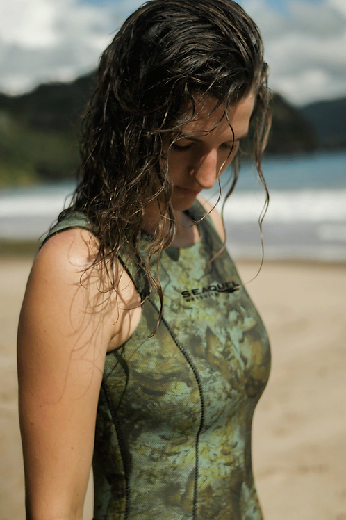 Women-HECS-Aquatic-Stealthscreen-Wetsuit-Long-John-Spearfishing-Freedive-3mm-5mm-7mm-Yamamoto-39-Multicamo