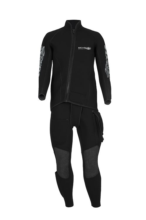 Commercial-Diver-Custom-Wetsuit-5mm-7mm-Yamamoto-38-Kevlar-Knees-Two-Piece