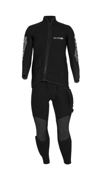 Custom Commercial Dive Two Piece Wetsuit
