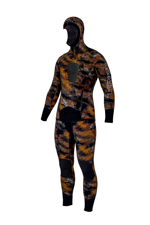 Spearfishing-Freedive-Wetsuit-Jacket-Long-John-3mm-5mm-7mm-Yamamoto-38-Hyperstretch-Camo-Beige-New-Zealand-Front