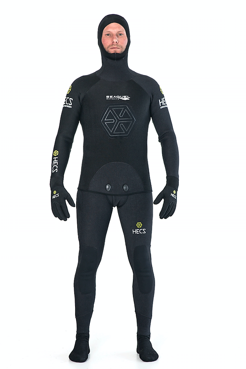 HECS-Aquatic-Stealthscreen-Wetsuit-Spearfishing-Freedive-3mm-5mm-7mm-Yamamoto-39-Black-Front