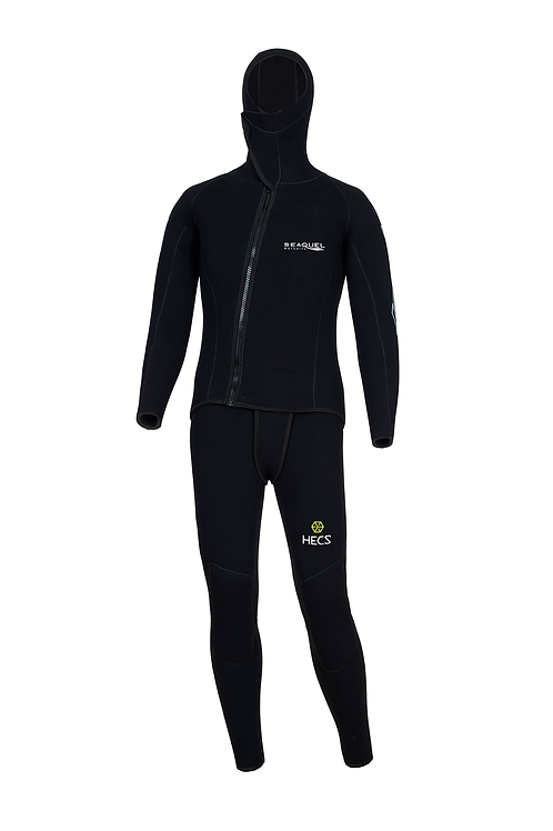 Custom-Dive-Wetsuit-HECS-Aquatic-Stealthscreen-Two-Piece-Jacket-Long-John-5mm-7mm-Yamamoto-45-Front