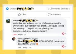 Dot bkground Screenshot FB comment Sharo