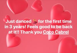 Screenshot Daniela's fb post