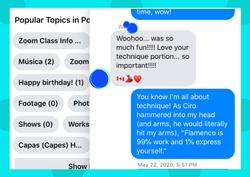 Dots bkground Screenshot Messenger comme