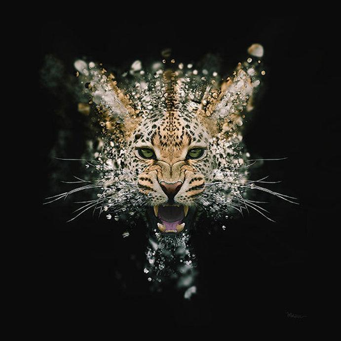 Leopard face digital art
