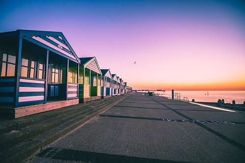 Beach Huts at Sunrise, Southwold