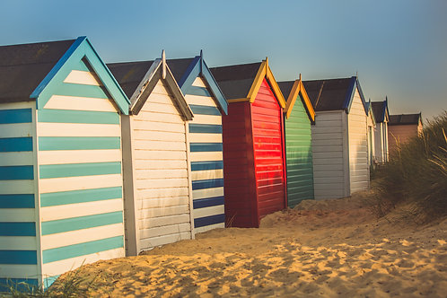 Behind the Beach Huts, Southwold