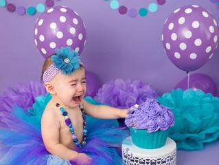 Purple & Teal Cake Smash Glendale, AZ