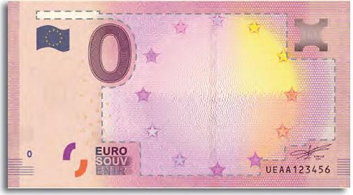 area personalizable del billete de 0 euros